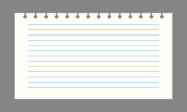 Vector notebook paper. Background Office stationery scrapbook Royalty Free Stock Image
