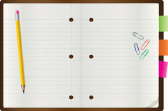Vector Notepad Royalty Free Stock Photo