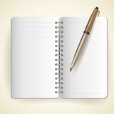 Vector of notepad and pen Royalty Free Stock Image