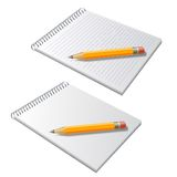 Vector notepad with pencil Royalty Free Stock Images