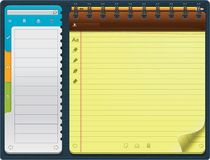 Vector notepad template (horizontal) Royalty Free Stock Photo