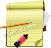 Vector notepad XXL detailed icon Stock Photo