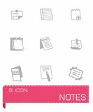 Vector notes icon set Stock Photography