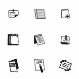 Vector notes icon set Royalty Free Stock Photo
