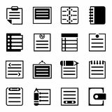 Vector Notes icon set Royalty Free Stock Image