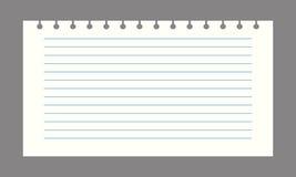 Vector notitieboekjedocument Royalty-vrije Stock Afbeelding