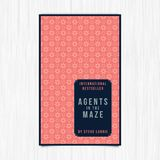 Vector of novel cover with agents in the maze text Stock Photo