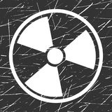 Vector nuclear sign representing the danger of radiation Stock Photos