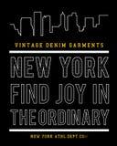 Vector Nueva York typograhy Imágenes de archivo libres de regalías