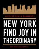 Vector Nueva York typograhy Imagen de archivo libre de regalías