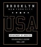 Vector Nueva York typograhy los E.E.U.U. Fotos de archivo libres de regalías