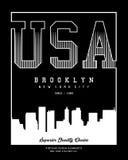 Vector Nueva York typograhy los E.E.U.U. Imagen de archivo libre de regalías