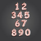 Vector number candles Royalty Free Stock Photo