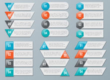 Vector Number Options for Infographics Stock Photography
