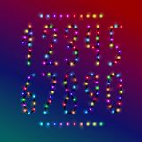 Vector number set from christmas lights stock image
