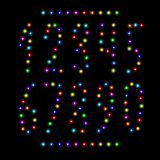 Vector number set from christmas lights Royalty Free Stock Images