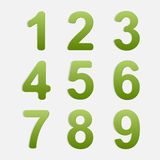 Vector Number Set. Stock Image