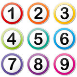 Vector numbering icons Stock Photography