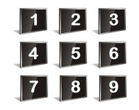 Vector numbers. Nice white isolated vector numbers Royalty Free Stock Photos