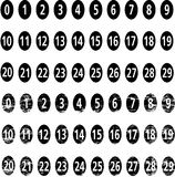 Vector numbers Royalty Free Stock Images