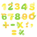 Vector numbers of flowers Stock Photography