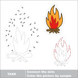 Vector numbers game. bonfire to be traced. Royalty Free Stock Image