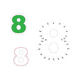 Vector numbers game. Dot to dot. Figure 8 Stock Photos