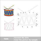 Vector numbers game. Drum to be traced. Royalty Free Stock Image