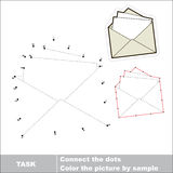 Vector numbers game. paper envelope to be traced. Royalty Free Stock Photo