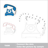 Vector numbers game. Telephone to be traced. Stock Images