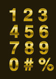 Vector Numbers from gold Stock Images