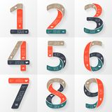Vector numbers infographics, font diagrams. Stock Image