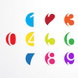 Vector numbers from number set. Royalty Free Stock Photo