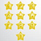 Vector numbers from number set. Royalty Free Stock Photos