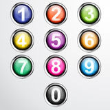 Vector numbers from number set. Stock Image
