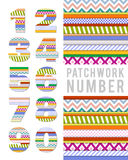 Vector numbers in patchwork style Royalty Free Stock Photography