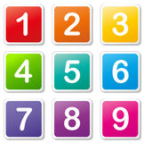 Vector numbers tags Royalty Free Stock Image