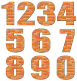 Vector numerals build out of red bricks Stock Photo