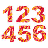 Vector numeration decorated with seasonal orange autumn leaves Royalty Free Stock Image