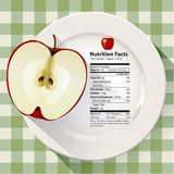 Vector of Nutrition facts apple Stock Images