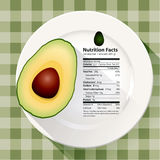 Vector of Nutrition facts avocado Stock Photo