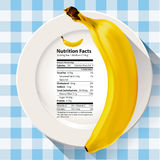 Vector of Nutrition facts banana Stock Photography
