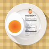 Vector of Nutrition facts egg Royalty Free Stock Photography