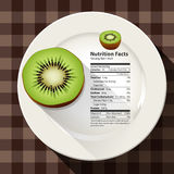 Vector of nutrition facts Kiwi Stock Photos