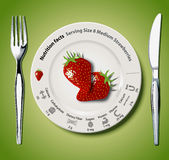Vector of Nutrition facts Strawberries Royalty Free Stock Photos