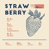 Vector of Nutrition facts strawberries stock illustration