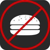 Vector o ícone branco do Hamburger da ilustração no fundo cinzento Foto de Stock Royalty Free