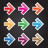 Vector o ícone da seta da ilustração para o projeto e os trabalhos criativos Imagem de Stock