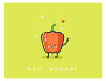 Vector o ícone de papel doce liso, caráter bonito dos desenhos animados do alimento Imagem de Stock