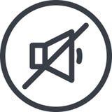 Vector o ícone de um som fora do botão na linha estilo da arte Pixel perfeito jogador Fotos de Stock
